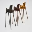 Poetic Horses. 32 cms. Bronze
